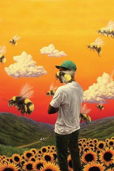Tyler The Creator Flower Boy album cover poster. It measures x in size. This is a Tyler The Creator Flower Boy album cover poster. It measures 24 Collage Mural, Bedroom Wall Collage, Photo Wall Collage, Art Mural, Picture Wall, Wall Art, Wall Decor, Poster Wall, Poster Prints