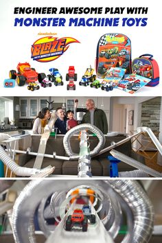Engineer awesome play with Blaze and the Monster Machine toys! Try crafting a homemade, STEM racetrack as a family and then bring home Blaze vehicles to put it to the test! Will Blaze and his friends land the big jump?! There's only one way to find out!
