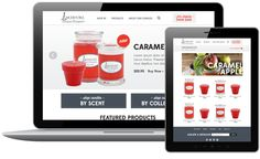Lakeshore Candle Responsive Website by Amy Snell, via Behance