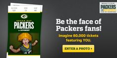 Packers Ticket Takeover Contest - Fan will have their picture printed on Packers tickets #sportsbiz