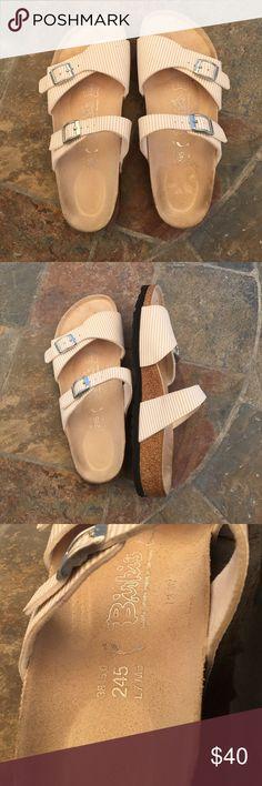 Birkenstock Like new condition only worn few times. Color white/ beige. Birkenstock Shoes