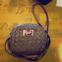 Michael Kors Crossbody Only used a couple of times w/ basically no wear at all. I just never use brown! It's so cute with the lattice style leather !  Michael Kors Bags Crossbody Bags