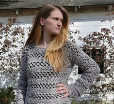 Madeline is a Free Crochet Pullover Sweater Pattern! The Madeline Sweater is an easy and beginner friendly pattern, perfect for any season! Crochet Vest Pattern, Crochet Cardigan, Crochet Patterns, Crochet Ideas, Crochet Sweaters, Crochet Jumpers, Crochet Projects, Women's Sweaters, Pullover Sweaters