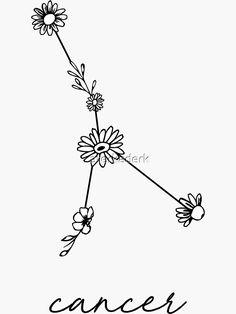 Cancer Sign Tattoos, Zodiac Sign Tattoos, Pretty Tattoos, Cute Tattoos, Tribal Tattoos, Small Tattoos, Tatoos, Crab Tattoo, Doodle Art