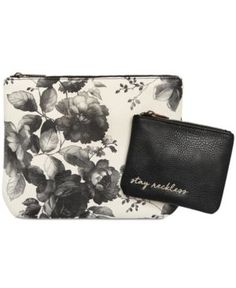 Lucky Brand 2-Pc. Cosmetic Bag Set - White
