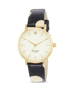 This ladies Kate Spade Metro watch is made from PVD gold plated and is powered by a quartz movement.