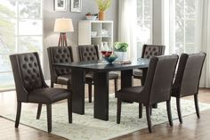 Poundex Poundex Arm chair & Dining chair F1501 (2Piece)