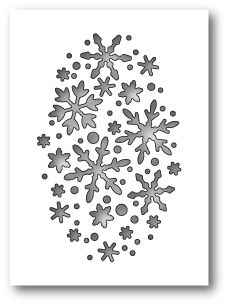 Memory Box SNOWFLAKE OVAL COLLAGE POPPY STAMPS Craft Die 1610