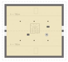 Rzut SD Fano D CE Modern Brick House, Floor Plans