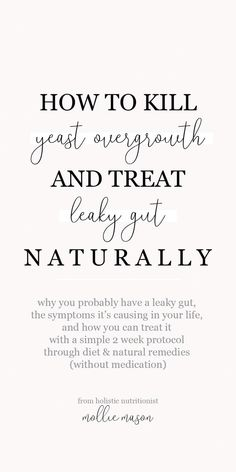 Looking for Yeast Infection Treatments? Holistic nutritionist Mollie Mason walks you through what leaky gut is, how yeast overgrowth causes it, and simple ways you can treat it naturally. Lemon Benefits, Coconut Health Benefits, Leaky Gut, Gut Health, Health Tips, Health Care, Health Practices, Health Recipes, Diet Recipes