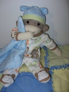 Adorable sock monkey.  Link was for the pattern.  Just need to find someone to sew it!!!!!