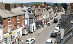 Highworth, High Street from the roof tops. Wiltshire, England