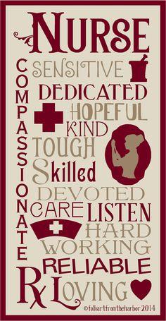 Nurse Typography  Stencil 7 mil Clear Mylar Reusable on Etsy, $19.99