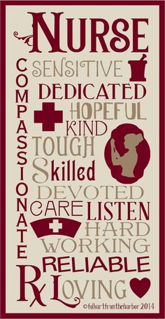 Nurse Typography  Stencil 7 mil Clear Mylar Reusable on Etsy, $19.99