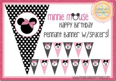 Free Minnie Mouse party kit