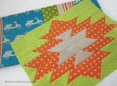 Quilting Tutorials, Quilting Projects, Quilting Designs, Sewing Projects, Quilt Block Patterns, Pattern Blocks, Quilt Blocks, Southwestern Quilts, Southwestern Style