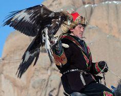 Kazakh eagle hunter: Mongolia