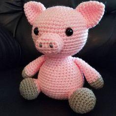 Mesmerizing Crochet an Amigurumi Rabbit Ideas. Lovely Crochet an Amigurumi Rabbit Ideas. Loom Knitting Stitches, Knitting Patterns, Crochet Patterns, Crochet Animals, Crochet Toys, Crochet Pig, Love Crochet, Beautiful Crochet, Crochet Phone Cases