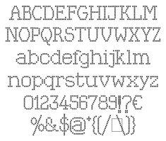 cross stitch font
