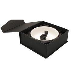 Hollandsche Waaren Schaaltje Zwart Kat | Klevering