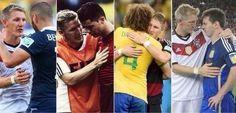 Schweinsteiger, no se puede ser más grande en la victoria.
