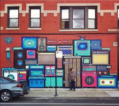 Nick Fisher with his work in Chicago (LP)
