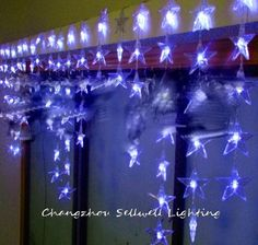 31.64$  Buy here - http://aiahb.worlditems.win/all/product.php?id=501490665 - 2017 Sale Christmas Decorations Navidad Good!led Christmas Light Showcase Decoration 90pcs Five Pointed Bead Curtain Lamp H171