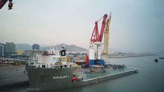 Video: Huisman 3000mt Offshore Mast Crane Installation onboard Bokalift 1