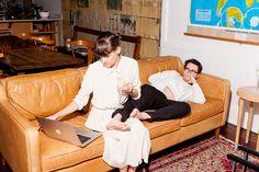 Helen Rice and Josh Nissenboim in their home
