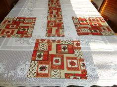 Clearance Special Winter table linen set table by SewWhatFabric