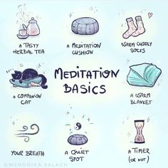Love this meditation basics list. What's on your meditation list? Wiccan Witch, Wicca Witchcraft, Magick, New Moon Rituals, Full Moon Ritual, Witchcraft For Beginners, Baby Witch, Eclectic Witch, Self Care Activities