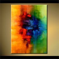 abstract art paintings by Osnat Tzadok - CHILDHOOD MEMORY