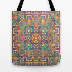 A Vintage Look Tote Bag | Society6.com #vintagelook #sampler #pattern #likeaquilt #symmetry #design #hers #forher #accessory