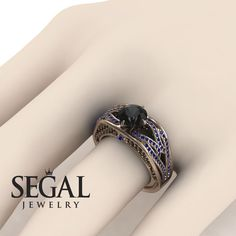 Yellow Gold Engagement Ring by Segal Jewelry Unique Diamond Engagement Rings, Classic Engagement Rings, Beautiful Engagement Rings, Antique Engagement Rings, Designer Engagement Rings, Diamond Rings, Antique Rings, Sapphire Rings, Diamond Jewelry