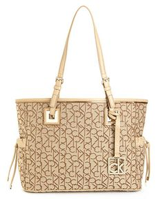 Calvin Klein Handbag, Exclusive Signature Tote - Calvin Klein - Handbags & Accessories - Macys $102.99