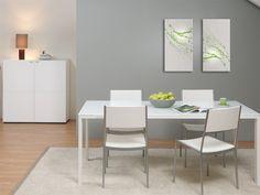 CASA Esszimmer Esstisch Büro 90x180 Weiß