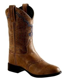 99db3b108b41e ... embroidery bring visual intrigue to these these flexible boots that  keep little feet comfy and rodeo-ready. Stitching LeatherContrastNavyKids Cowboy ...