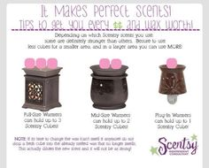 How to warm the correct amount of scents in your size warmer.