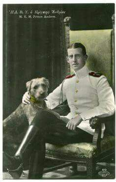Prince Andrew of Greece and Denmark, father of Prince Philip britain Prince Andrew, Prince Phillip, Princess Alice Of Battenberg, Greek Royalty, Royal Blood, Man And Dog, King George, Queen Victoria, Royal Families
