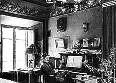 PUCCINI'S PIANO -- Puccini inside his villa in Torre del Lago. Mary, Terry and…