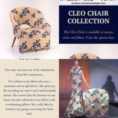 The Cleo Chair   #loungechair #girlboss #custommade #yourfabric #myfabric #interiordesign #midcenturymodernlook #furnituredesign #buy #tradediscount #forsale #FIDMalum #debut2015 #chairingstyles #customchair #marketing #LUXEmagazine #chair #customersownmaterial #RobertAllenFabrics #TheCleoChair #RedlandsInteriorDesigner #RedlandsCalifornia