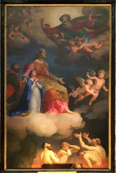 Saints Anne and Joachim and the Blessed Virgin Interceding for the Souls in Purgatory