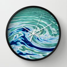 OCEAN ABSTRACT 2 Wall Clock by catspaws - $30.00