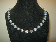Pearlstyle necklace with silver beads 18 inches by carebear1984, $10.00