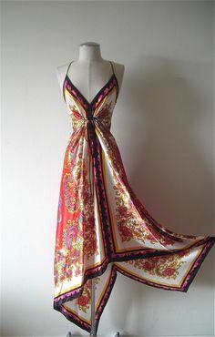 Silk scarf dress