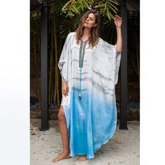 NEW COLLECTION Tie dye silk Kaftan by WKNDS on Etsy