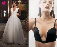 Lingerie para vestidos de noiva com decote profundo