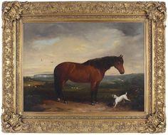 John Christopher Bell Antique Original Oil Painting Horse Dog Coast Signed Dated Coast, Horses, Oil, The Originals, Antiques, Painting, Ebay, Antiquities