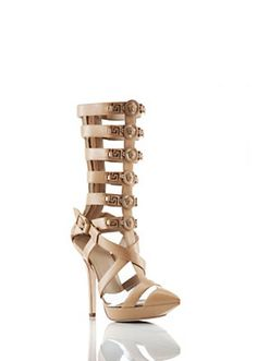 These are gorgeoussss ~ ! Versace - Mid-High Gladiator Open-Sandals
