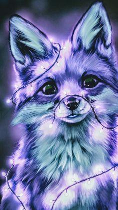 Cute Fox Drawing, Cute Animal Drawings Kawaii, Cute Cartoon Animals, Anime Animals, Cute Animals, Baby Animals Pictures, Cute Animal Photos, Cute Pictures, Mystical Animals